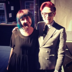 The lighting here is terrible but Rhys Nicholson is hilarious and a sweetheart.
