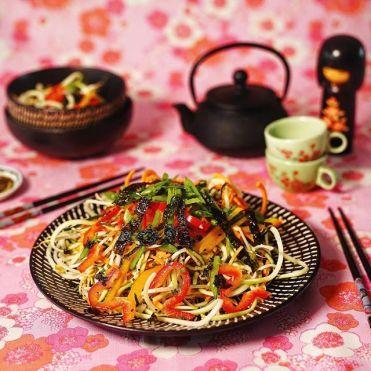 Photo by Naomi Giatas. Japanese noodle salad – yum!